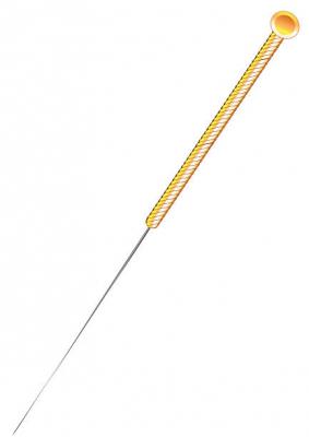 Exemplo de agulha utilizada para acupuntura